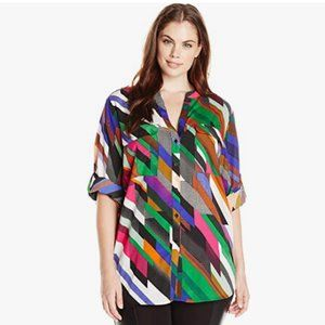 CALVIN KLEIN long sleeve blouse multi coloured